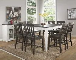 Wooden Top Dining Table Set
