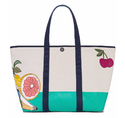 Canvas Beach Bag With Floral Print