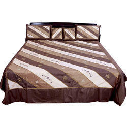 5 Piece Designer Silk Double Bed Cover 336