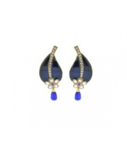 a367aed82 Yellow And Blue Diwali New Design Yellow, Blue & White Color Earrings For  Women'