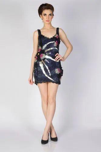 Mupkino Satin Shimmer Evening Dress, Size: Medium