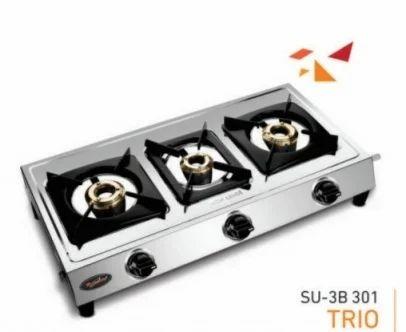 ac9f59cd543 Sun Safe Kitchen Safe Three Burner Gas Stove SU-3B-TRIO