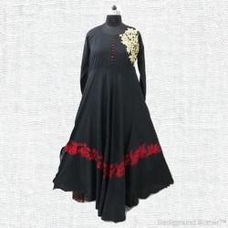 Black Rayon Anarkali Style kurti