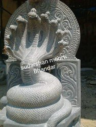 Marble Sheshnag Statue