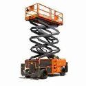 Orange Stainless Steel Mobile Scissor Lift Rental, Application/usage: Industrial