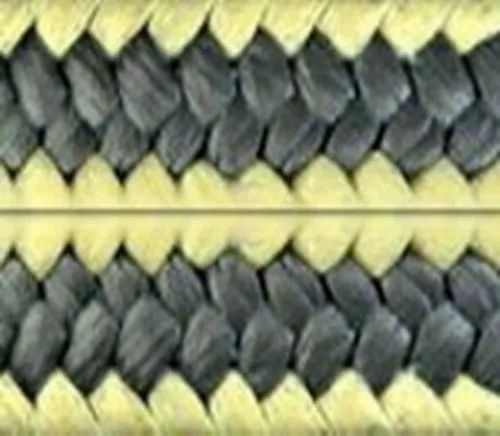 Aramid Corner with Graphite Filled PTFE Fiber Yarn Braided Packing.