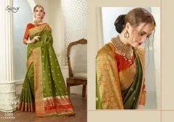 Designer Cotton Silk Banarasi Zari Saree