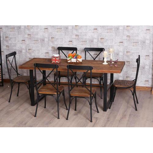 6 Seater Wrought Iron Dining Table Set