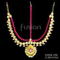 Traditional Pearl Beaded Wedding Damini Head Piece