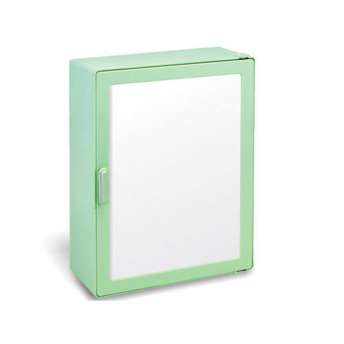 Green Plastic Bathroom Mirror Cabinet