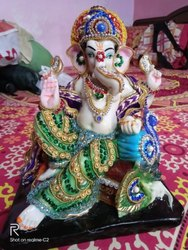 Brown ganesha Goddess Statues, For Home, Size: Large