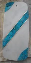 TURQUOISE WITH BRASS INLAY CHOPPPING BOARD