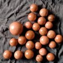 Red Gold Star Sphere Stone