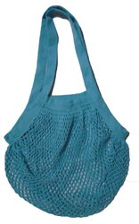 100% Cotton Colored String Grocery Tote Bag