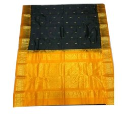 6 m Designer Pure Silk Saree, With Blouse Piece, Packaging Type: Plastic Bag