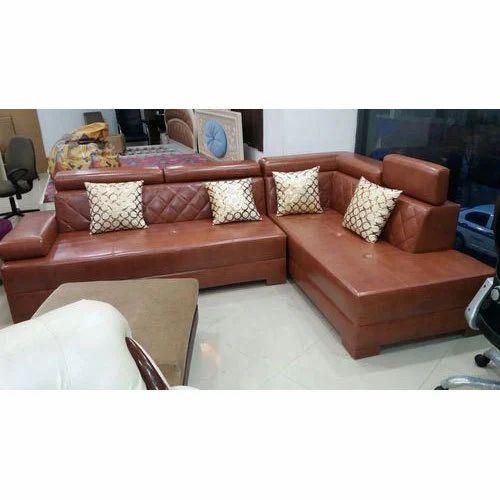 Brown L Shape Sofa L Shape Couch एल श प स फ स ट