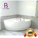 White Corner Bathtub