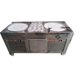 Double Pan Fried Ice Cream Machine