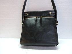 Black HV Genuine Leather Designer Sling Bag