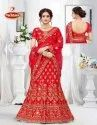 Fancy Embroidery & Heavy Diamond work 3 PCS Lehenga with Dupatta & Blouse - Padma Shree