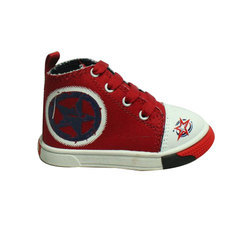 Red And White Formal Stylish Kids Footwear