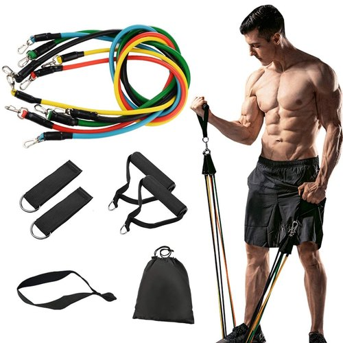 Rubber Resistance Band Set For Exercise, For Gym, Rs 375 /piece   ID:  22465501048