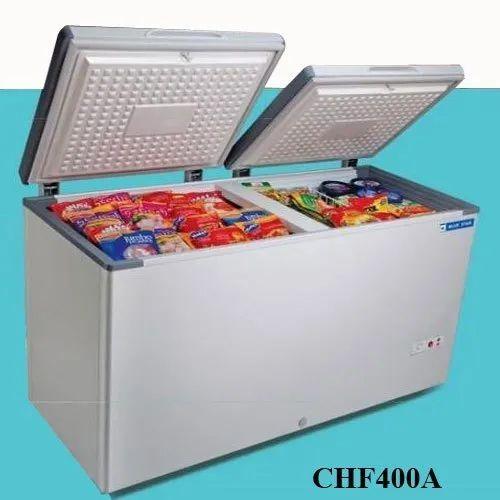 Top Open Door Chest Blue Star Freezer, Capacity: 400 L