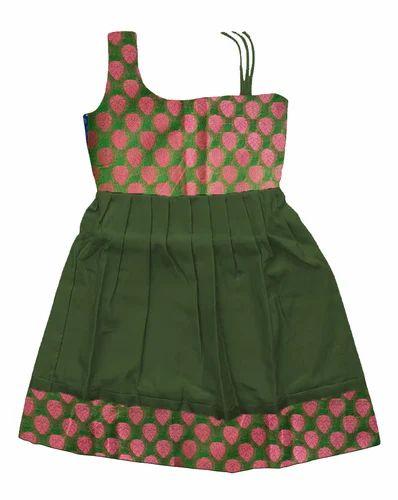 6a1d2807a13d1 Green Pure Silk Pattu Pavadai, Rs 900 /piece, Bujuma Kids Pattu ...