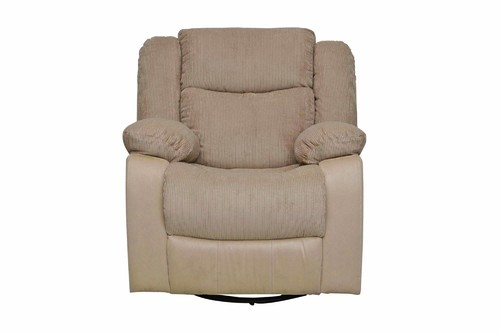 1 Seater Beige Fabric Rocker Recliner Sofa