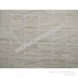 White Cotton Embroidery Patchwork Fabrics