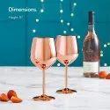 Stainless Steel Stemmed Wine Glasses