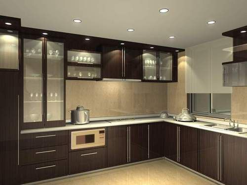 Commercial Residential Wooden Modular Kitchen, Warranty: 1-5 Years