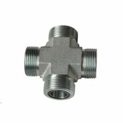 O Ring Face Seal Cross Fitting, Size: 1/2 Inch