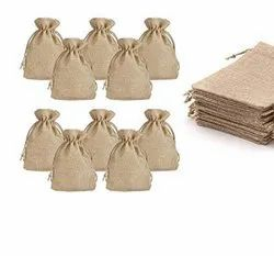 Natural Jute Color-Burlap Return Gift Bags