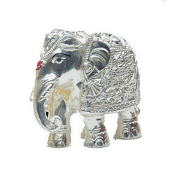 Silver Plated Elephant Size 1 Statues
