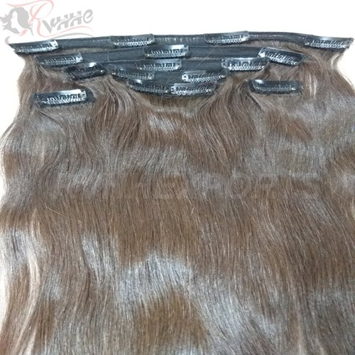 RVHHE NATURAL Indian Hair Clip Extensions, Pack Size: 10' -30'  , for RESELL