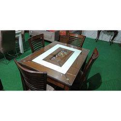 Teak Wood Four Seater Dining Table
