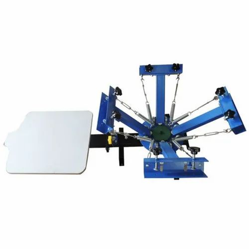 4 Color 1 Station Manual Printing Machine