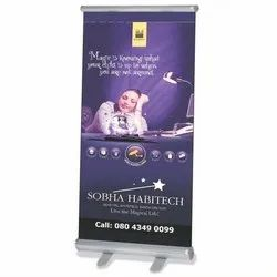 Flex Multicolor Promotional Roll Up Banner Stand