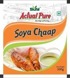Ready To Cook Packet 100% Maida Free- Frozen Soy Pure Chaap, Packaging Size: 500 g