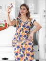 Flower Print Ladies Night Gown