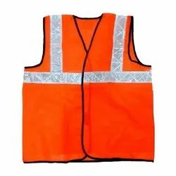 Orange Work Reflective Jacket Safety Mesh Vest With 3m Tape Fancy Colours Workplace Safety Supplies Security & Protection