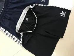 Casual Black Adidas Shorts, Size: Large