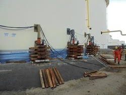 Tank foundation repair jacks