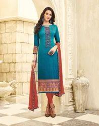 Umang NX Printed & Thread Work Cotton Printed Dress