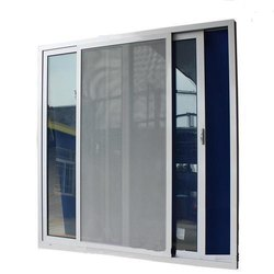Acoustic Multicolor Aluminium Sliding Soundproof Window With SS Mosquito Net Shutter