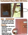 Customized Diary With USB Drive