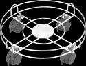 Stainless Steel Wheel Lock Cylinder Trolley