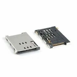 Push-Push Type 8pin SIM Card Holder In Metal Body