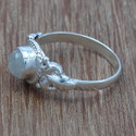 Rainbow Moonstone 925 Sterling Silver Jewelry Small Ring